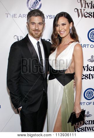 Dave Annable and Odette Annable at the Art Of Elysium's 9th Annual Heaven Gala held at the 3LABS in Culver City, USA on January 9, 2016.