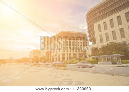 Square in front of government financial offices in Putrajaya, Malaysia, Asia.