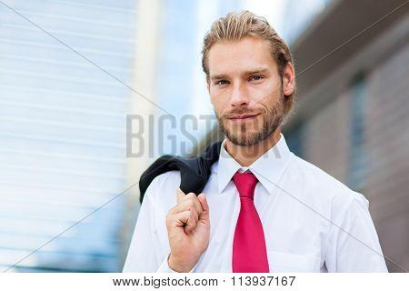 Nordic handsome businessman
