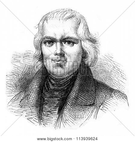 Canon Schmid, author of Easter Eggs, vintage engraved illustration. Magasin Pittoresque 1876.