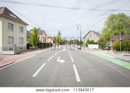 French village street