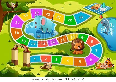 Board Game In Animal Theme