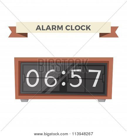 Clock watch alarm vector icon illustration
