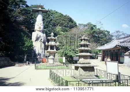 Eunjin-Mireuk Stone Buddha and Seokdeung Stone Lantern
