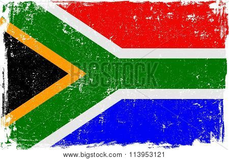 South Africa Vector Flag on White