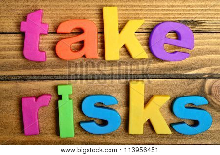 Take Risks Word