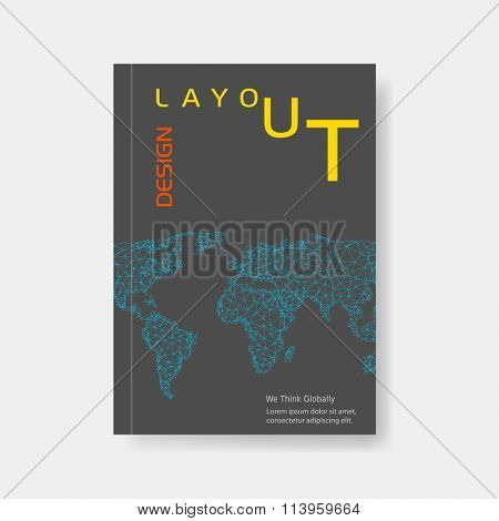 Modern abstract brochure easy editable