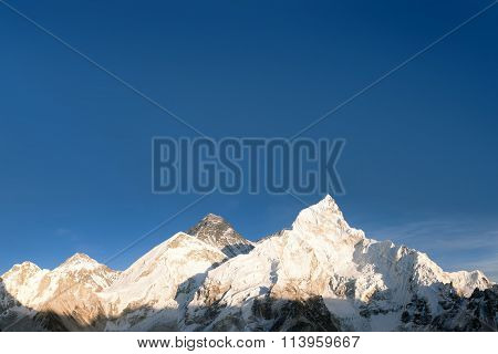 Panoramic View Of Mount Everest From Kala Patthar