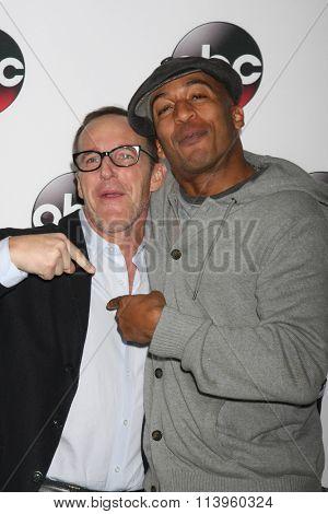 LOS ANGELES - JAN 9:  Clark Gregg, James Lesure at the Disney ABC TV 2016 TCA Party at the The Langham Huntington Hotel on January 9, 2016 in Pasadena, CA