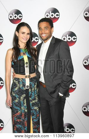 LOS ANGELES - JAN 9:  Jordana Brewster, Michael Ealy at the Disney ABC TV 2016 TCA Party at the The Langham Huntington Hotel on January 9, 2016 in Pasadena, CA