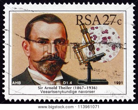 Postage Stamp South Africa 1991 Sir Arnold Theiler, Veterinarian