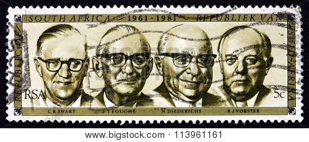 Postage Stamp South Africa 1981 Former Presidents
