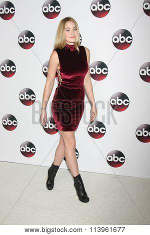 LOS ANGELES - JAN 9:  AJ Michalka at the Disney ABC TV 2016 TCA Party at the The Langham Huntington Hotel on January 9, 2016 in Pasadena, CA