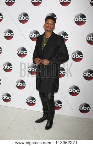 LOS ANGELES - JAN 9:  Trevor Jackson at the Disney ABC TV 2016 TCA Party at the The Langham Huntington Hotel on January 9, 2016 in Pasadena, CA