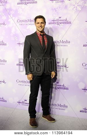 LOS ANGELES - JAN 8:  Sam Page at the Hallmark Winter 2016 TCA Party at the Tournament House on January 8, 2016 in Pasadena, CA