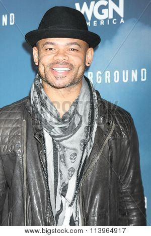 LOS ANGELES - JAN 8:  Anthony Hemingway at the Underground WGN Winter 2016 TCA Photo Call at the The Langham Huntington Hotel on January 8, 2016 in Pasadena, CA