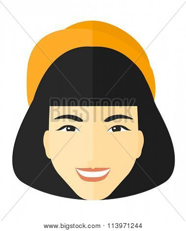 Smiling happy woman.