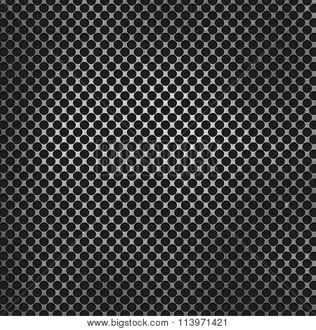 Perforated metal on a carbon fibre background