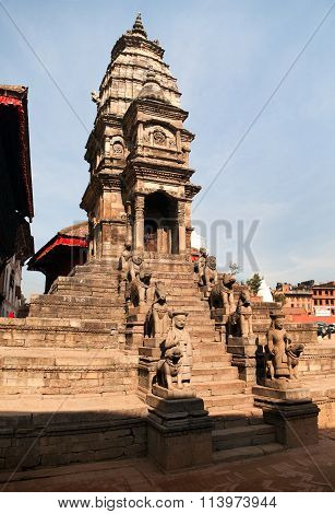 Hinduist Temple On Bhaktapur Durbar Square
