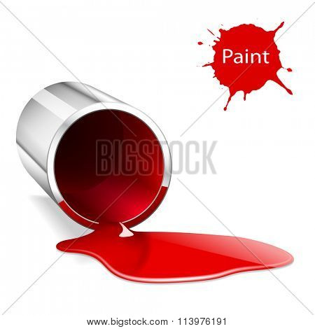 Illustration of metallic capacity with a red paint.
