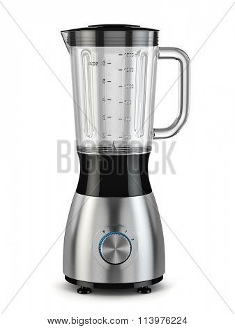 Electric blender. Kitchen appliance, equipment isolated on white. 3d