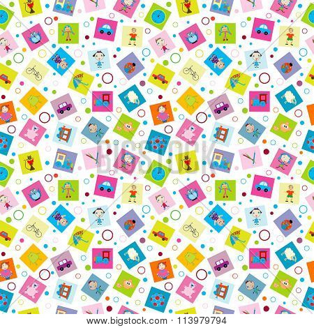 Wrapping Paper With Toys For Kids