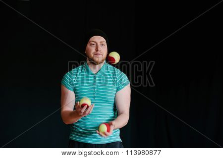 Juggling Young Man.