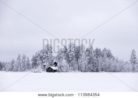 Snowy White Winter Island