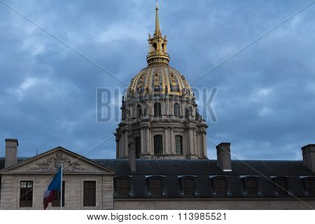 The Cathedral Of Saint Louis Des Invalides.