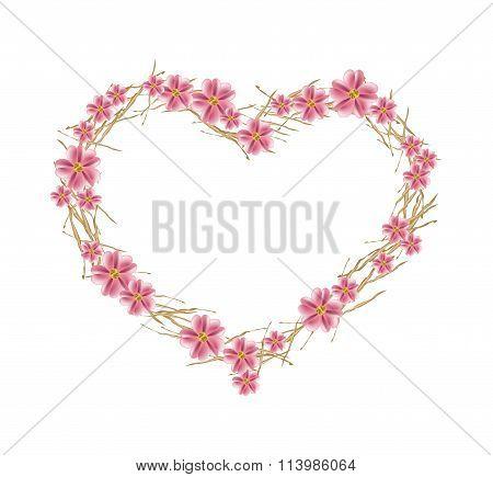 Old Rose Yarrow Flowers in Heart Shape