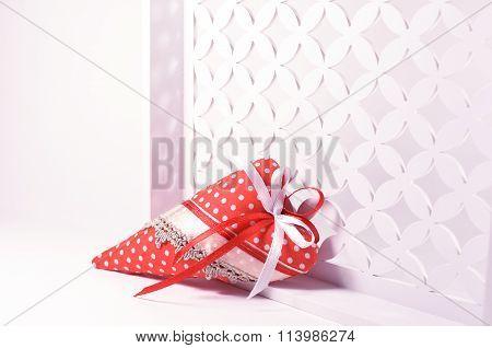 Handmade red heart Valentines day