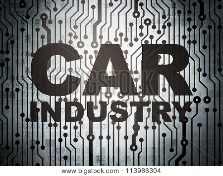 Industry concept: circuit board with Car Industry