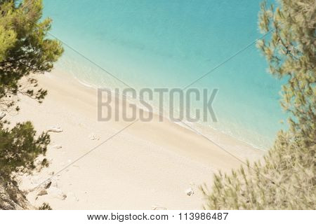 Beautiful sandy beach and turquoise sea