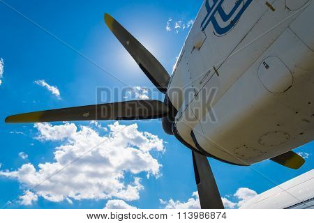 Plane Motor with Propeller