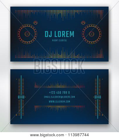 Business card for Dj