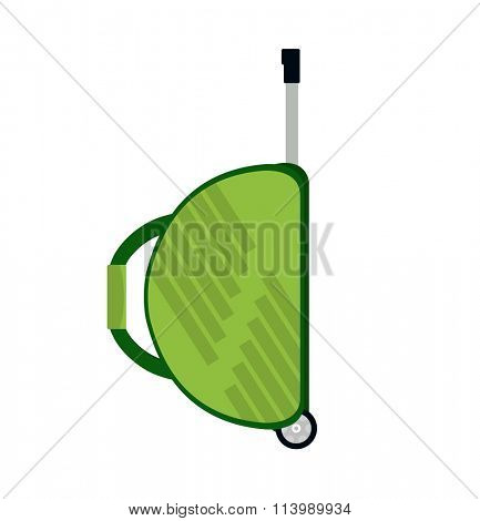 Travel bag vector illustration. Travel bag isolated on background. Travel bag symbol. Travel bag. Travel bag for traveling. Travel bag vector. Summer time, vacation, travel