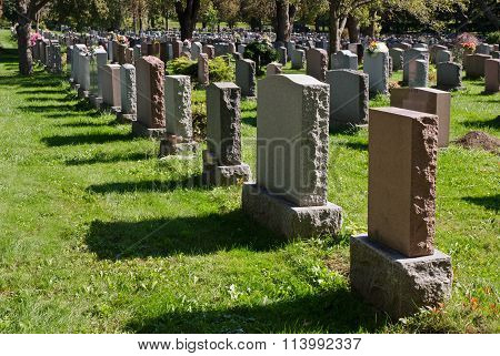 Gravestones In An American Cemetery
