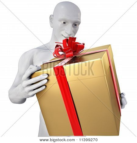 Man With Golden Gift