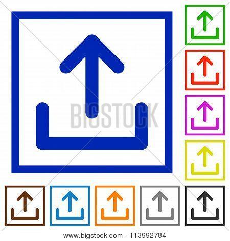 Upload Framed Flat Icons