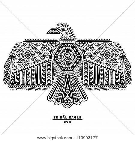 Native American eagle illustration