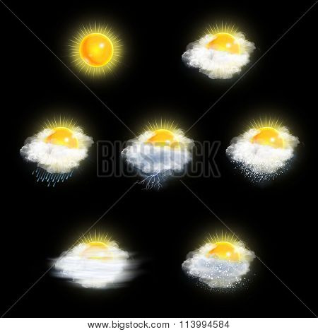 Weather Forecast Icons Set, Sun Version
