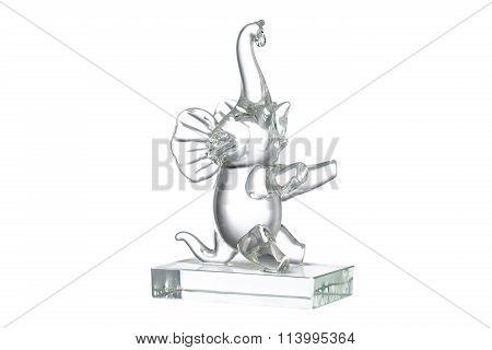 Crystal Elephant Figurine Isolated
