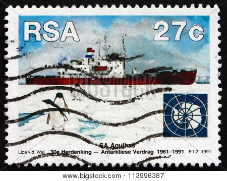 Postage Stamp South Africa 1991 Sa Agulhas And Penguins