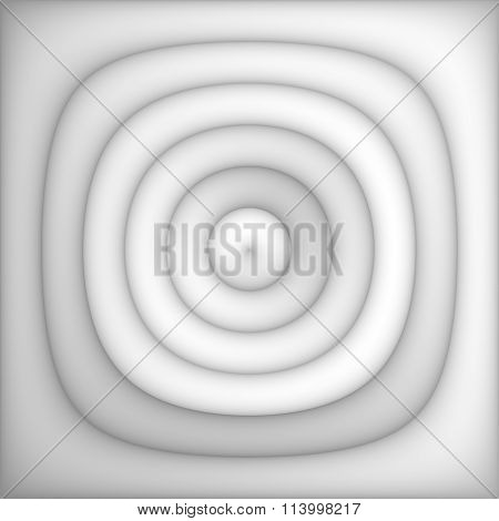 Raster Greyscale Gradient Concentric Circles Light Abstract Background