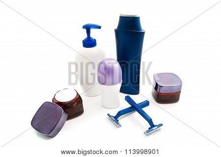 Gel, Shampoo, Razors, Cream And Deodorant