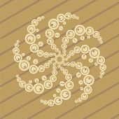 pic of flying saucer  - ufo crop circles design in wheat - JPG