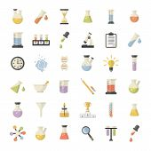 Постер, плакат: Science and Research icons set