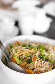 image of stir fry  - Close up of Singapore fried rice noodles - JPG