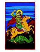 Постер, плакат: Святой Георгий убивает дракона