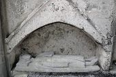 stock photo of burial-vault  - a historical tomb in a church in ireland - JPG